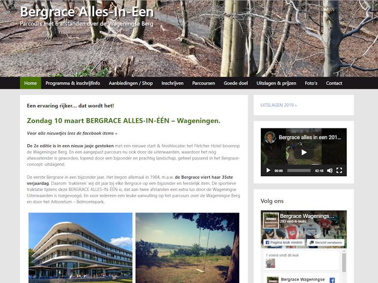 Bergrace Alles in een | Webdesign Wageningen
