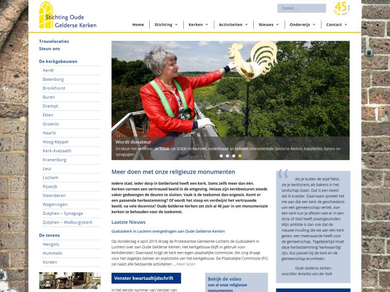 Oude Gelderse Kerken | WordPress Webdesign Wageningen